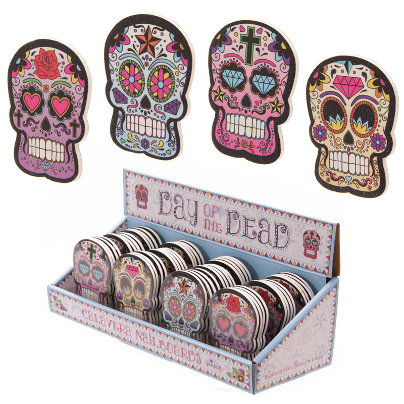 Skull Emery Board- Day of the Dead range